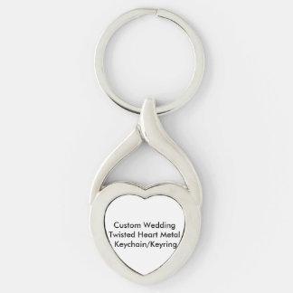 Casamento feito sob encomenda metal torcido chaveiro