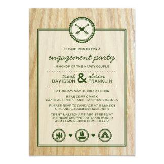 Casamento & festa de noivado Woodsy de Glamping Convite Personalizados
