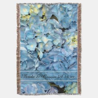 Casamento floral do Hydrangea azul Manta