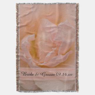 Casamento floral do rosa rosa pálido manta