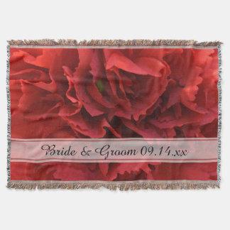 Casamento floral vermelho coberta
