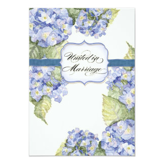 Casamento formal floral do suporte azul do convites personalizados