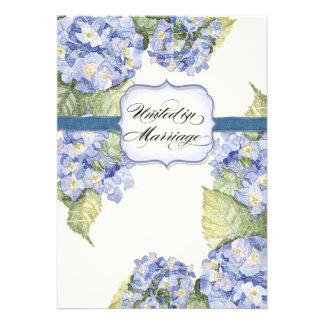 Casamento formal floral do suporte azul do Hydrang