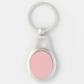 Casamento francês do castelo do rosa cor-de-rosa chaveiro oval cor prata