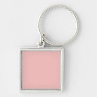 Casamento francês do castelo do rosa cor-de-rosa chaveiro quadrado na cor prata