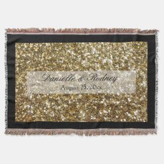 Casamento impresso do ouro brilho simples coberta