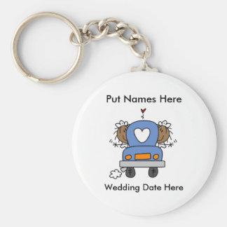 Casamento lésbica a personalizar chaveiros