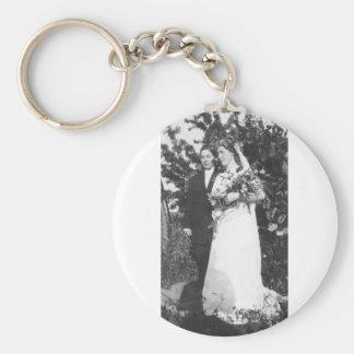 Casamento lésbica cerca de 1920 chaveiro
