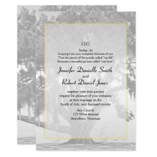Casamento Mossy de prata cinzento amarelo do Convite 12.7 X 17.78cm