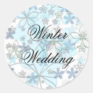 Casamento no inverno adesivo