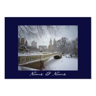 Casamento no inverno do Central Park Convite 12.7 X 17.78cm