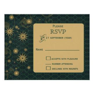 casamento no inverno RSVP dos flocos de neve do Convite Personalizados