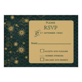 casamento no inverno RSVP dos flocos de neve do Convite Personalizado