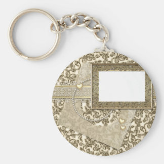 Casamento ou aniversário do ouro com quadro da chaveiro