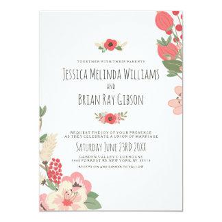 Casamento Pastel do jardim Convite 12.7 X 17.78cm
