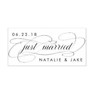 Casamento personalizado recem casados carimbo auto entintado