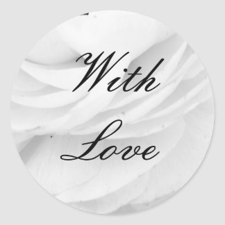 Casamento preto e branco clássico adesivo