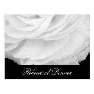Casamento preto e branco clássico cartão postal