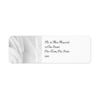 Casamento preto e branco do rosa etiqueta endereço de retorno