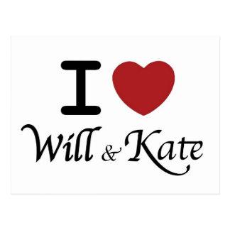 Casamento que real eu coração & cartão de Kate