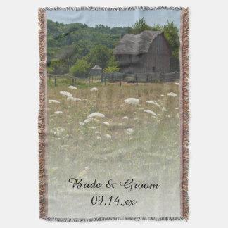 Casamento resistido do país do celeiro manta