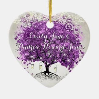 Casamento romântico roxo brilhante da folha do ornamento de cerâmica