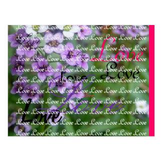 Casamento roxo cartão postal