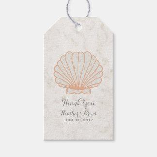 Casamento rústico alaranjado do Seashell