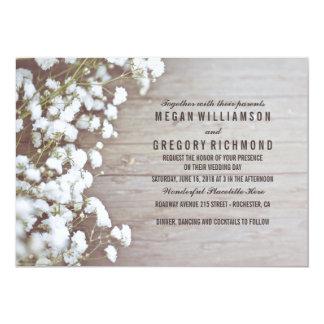 Casamento simples do verão rústico Floral da Convite 12.7 X 17.78cm