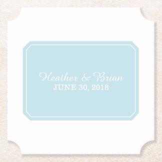 Casamento simplesmente elegante do azul porta-copo de papel