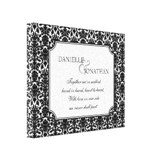Casamento tema damasco branco preto arte personali