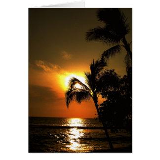 Casamento tropical da linha costeira da praia cartão comemorativo