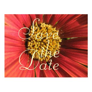 Casamento vermelho rústico cartão postal