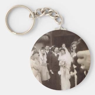 Casamento vintage chaveiro