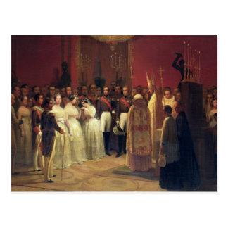 Casamentos da rainha Isabella II Cartão Postal