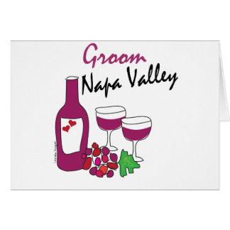 Casamentos de Napa Valley, noivo Cartão Comemorativo