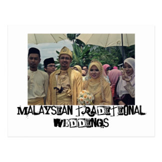 Casamentos do Malay Cartão Postal