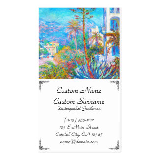 Casas de campo em Bordighera Claude Monet Cartão De Visita