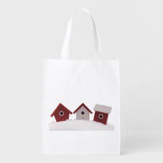 Casas do pássaro sacolas ecológicas para supermercado