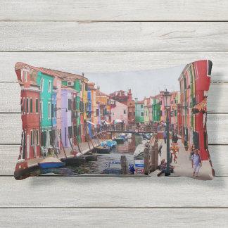 Casas pintadas Italia Veneza Almofada Lombar