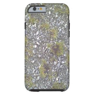 Cascalho e grama capa tough para iPhone 6