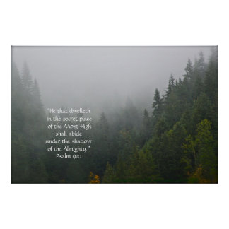 Cascata do verso do impressão w/Scripture das árvo