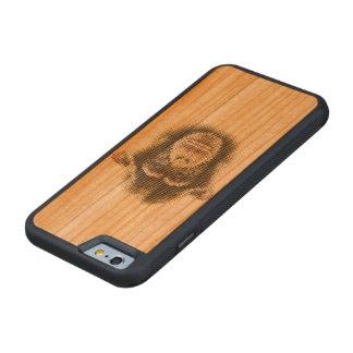 Case Chimpanzé Capa De Madeira Cerejeira Bumper Para iPhone 6