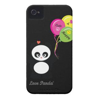 Case mate corajosa de Panda® Blackberry do amor ma Capa iPhone 4 Case-Mate