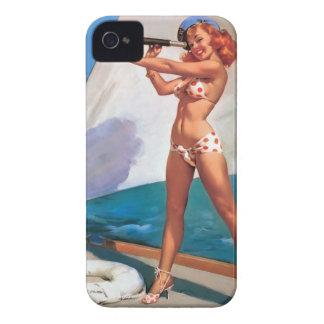 Case para Blackberry Bold Pin Up Vintage Capas Para iPhone 4 Case-Mate