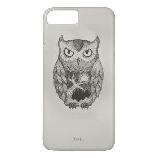 Caso à moda de Dotwork Pnone da coruja Capa iPhone 7 Plus