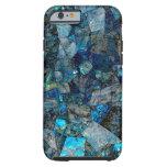 Caso abstrato artística do iPhone 6/6s das gemas Capa Tough Para iPhone 6