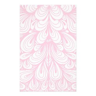 Caso abstrato floral cor-de-rosa papelaria