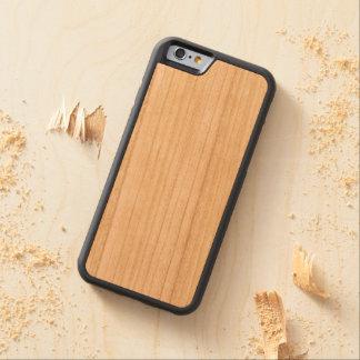 Caso abundante de madeira do iPhone 6/6s Capa Cherry Bumper Para iPhone 6