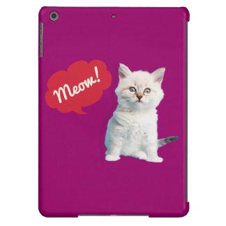 Caso bonito de Ipad do gatinho Capa Para iPad Air